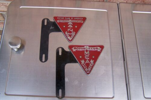 2 Motor Club Of America MCA & AA of New Jersey Tag Toppers