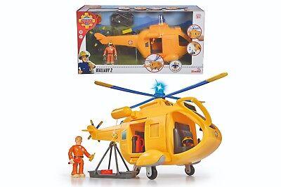Simba 109251002 Feuerwehrmann Sam Wallaby II mit Figur und Zubehör NEU OVP