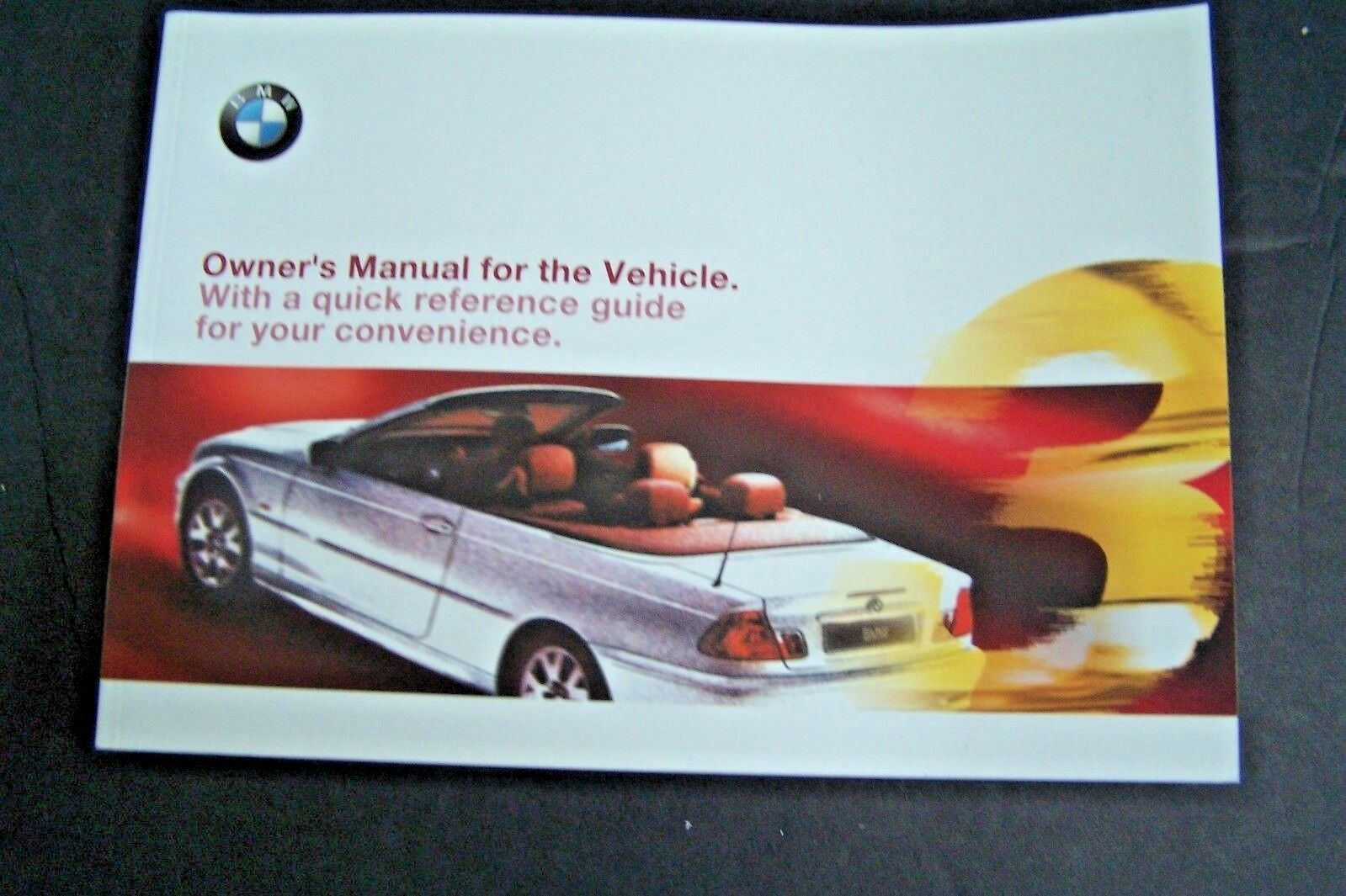2000 bmw 3 Series Convertible 325ci 330ci owners manual new original e46