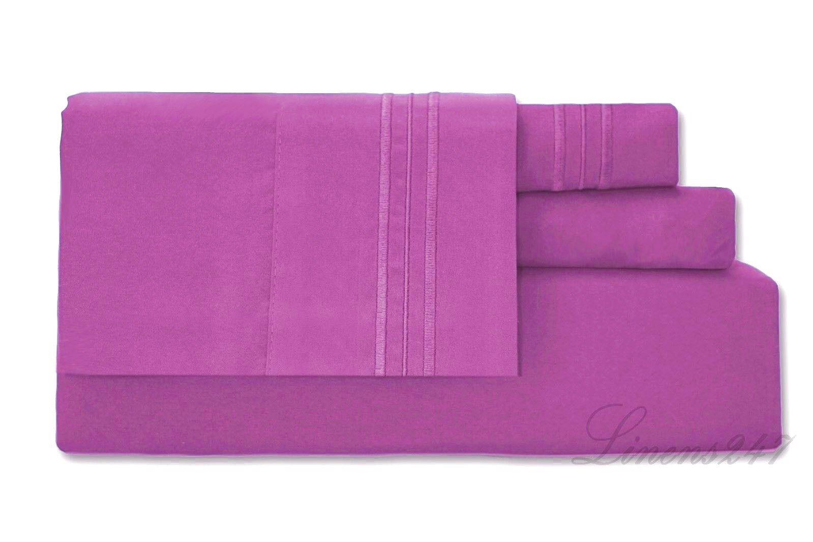 4 Piece Deep Pocket Bed Sheet Set 1800 series Brand new