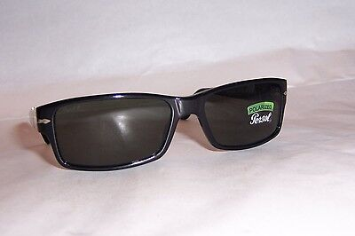 e18703ba0382 NEW Persol Sunglasses 2747/S PO BLACK/GREEN 95/48 57mm POLARIZED AUTHENTIC