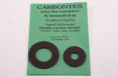 Carbontex Smooth Drag washer kit set Shimano Calcutta TE300 TE400 400LJV Carbon