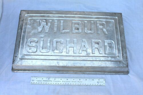 Vintage Wilber Suchard Chocolate Pan Large Steel Advertising Logo**