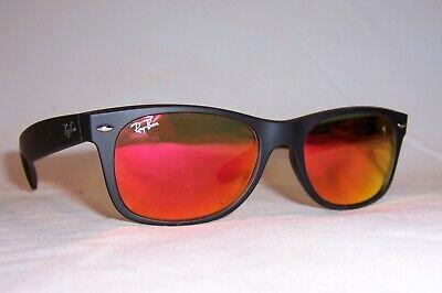 New RAY BAN Sunglasses WAYFARER 2132 622/69 BLACK/RED MIRROR 52mm AUTHENTIC