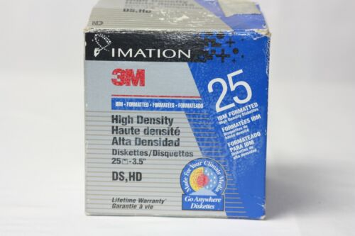 """21 Imation 3.5"""" 1.44MB 2HD Diskettes IBM Formatted ~ New Old Stock"""