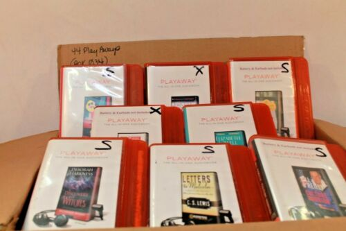 Lot of 44 PlayAway Audio books - Box 034