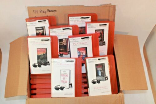 Lot of 44 PlayAway Audio books - Box 005