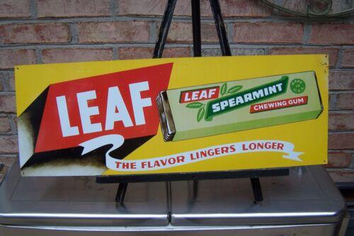 Leaf Spearmint Chewing Gum Metal Sign