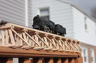"S Gauge handmade wood trestle bridge 36 1/4"" long for American Flyer etc.."