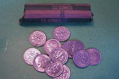Click now to see the BUY IT NOW Price! 1982 D ROOSEVELT DIME ROLL - 50 COINS