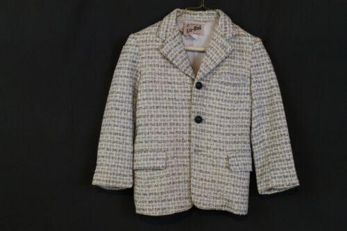 "VTG 1950s Boys Wool Suit Jacket Coat Atomic Fleck MCM 30"" Chest Lo-Bel New York"