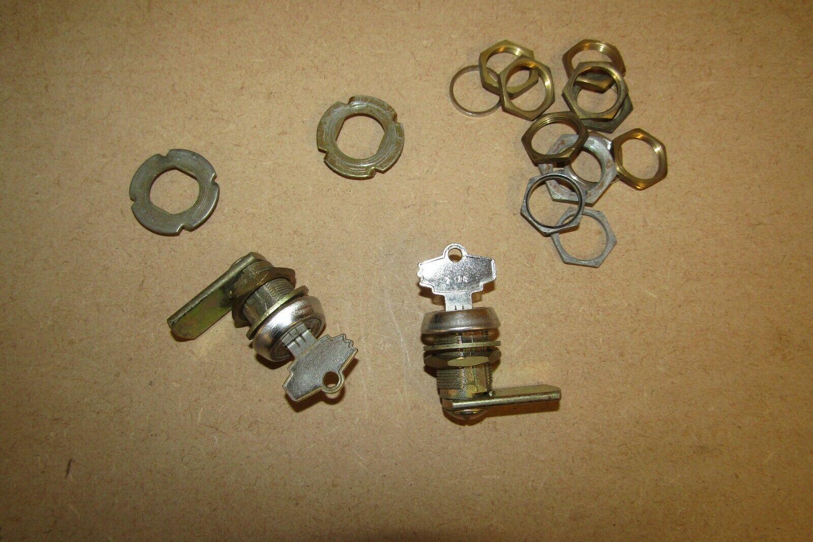 x2 Original 2178 Superleague Pool Table Locks and Key