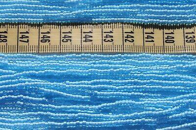 - 10/0 Aqua White Lined Czech Glass Seed Beads Crafts Beads Jewelry Making/hank
