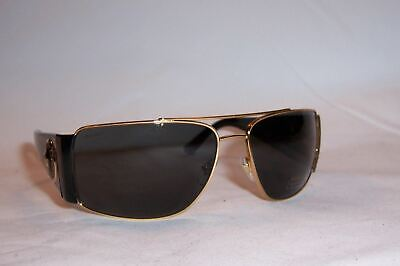 NEW VERSACE SUNGLASSES VE 2163 100287 GOLD/GRAY AUTHENTIC
