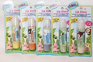 NEW Lot of 5 Webkinz Lip Gloss Glosses with Sealed Codes Banana,Blueberry,Orange