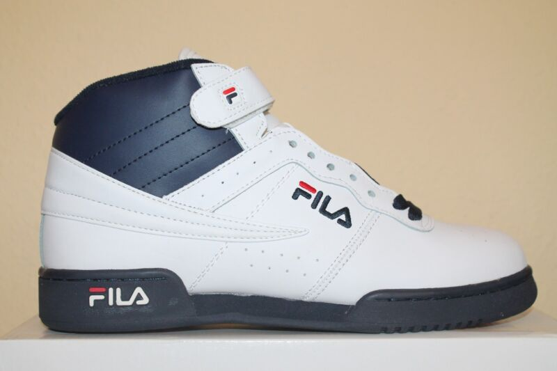 Mens Fila F13 F 13 Classic Mid High Top Basketball Shoes