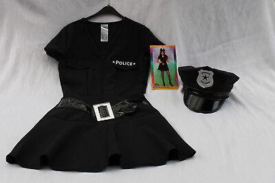 Mädchen Police Girl Polizistin Polizeikleid Mütze 152 Kostüm Karneval Fasching ()