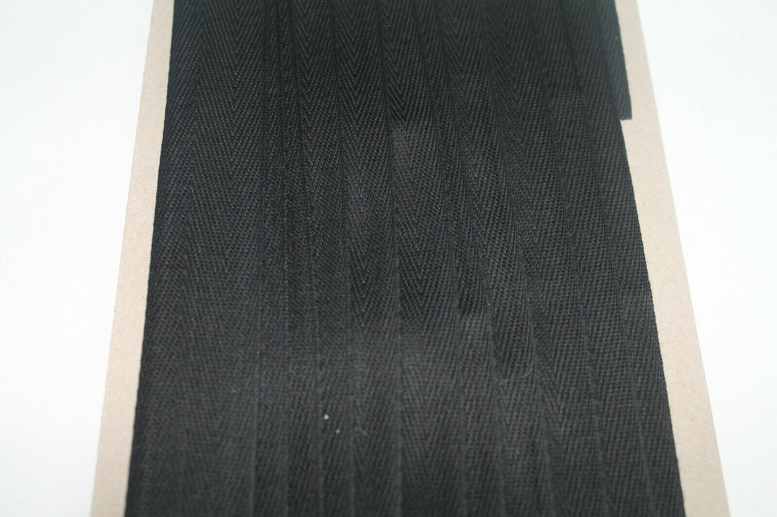 5 Meter Köperband Nahtband Besatzband Baumwolle Band Schwarz 20 mm NEU