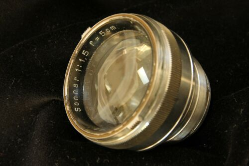 Zeiss Jena SONNAR 5cm 50mm 1.5 for Contax rf early lens 1936. flat nose version