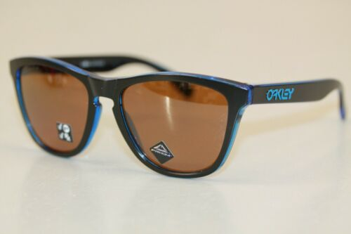 Oakley FROGSKINS POLARIZED Sunglasses OO9013-H955 Eclipse Blue W/ PRIZM Tungsten