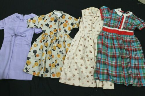Lot of 8 Vintage 1960s 70s Girls Tween/Child Sized Dresses Uniforms