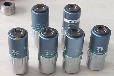 One Mitutoyo M Plan Uv 20x 0.36 F200 Microscope Objective Lens