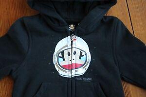 New Paul Frank Space Julius Monkey Astronaut Black Hoodie Sweatshirt Baby 12 M