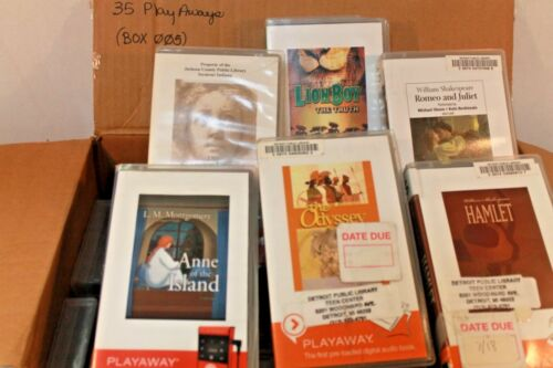 Lot of 35 PlayAway Audio books - Box 005