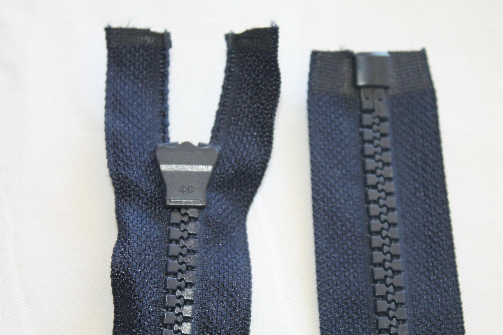 Reißverschlüsse Motorrad Teilbar Kunststoff Grob Zipper Nummer 8 Robust in Blau