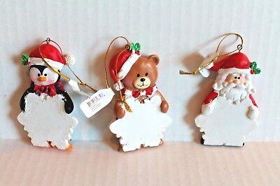 Oriental Trading Set of 12 Resin Character Snowflake Name Christmas Ornaments - Christmas Character Names
