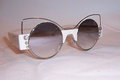 NEW MARC JACOBS SUNGLASSES MARC 1/S U4X-FU WHITE/SILVER MIRROR AUTHENTIC