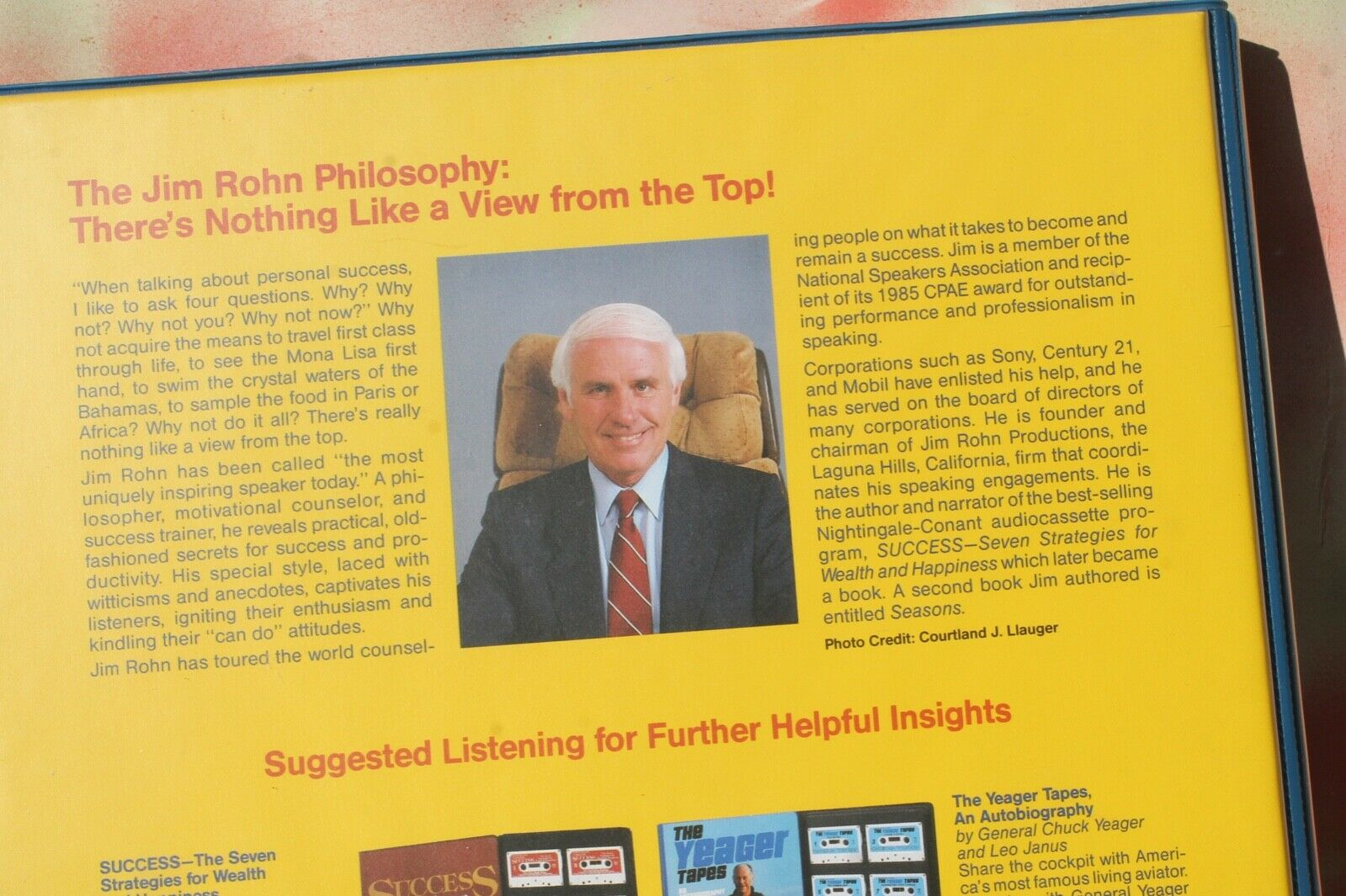 Take Charge Of Your Life / Jim Rohn, Winner s Seminar 12 Presentations/6 Cassett - $28.95