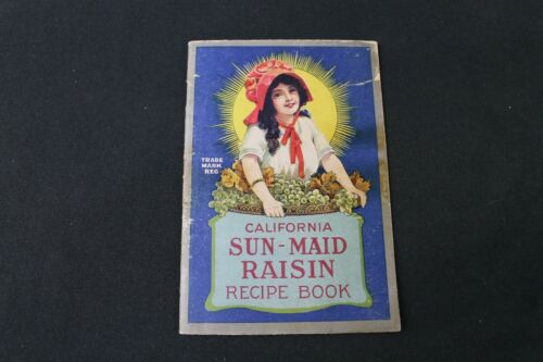 VTG 1915 Sun-Maid Raisins Advertising Recipe Booklet California