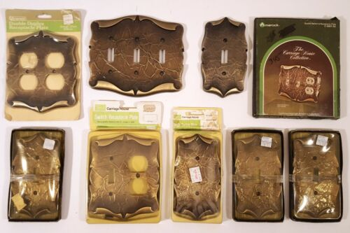 AMEROCK CARRIAGE HOUSE SWITCH PLATE OUTLET COVER LOT ANTIQUE BRASS NEW IN BOX