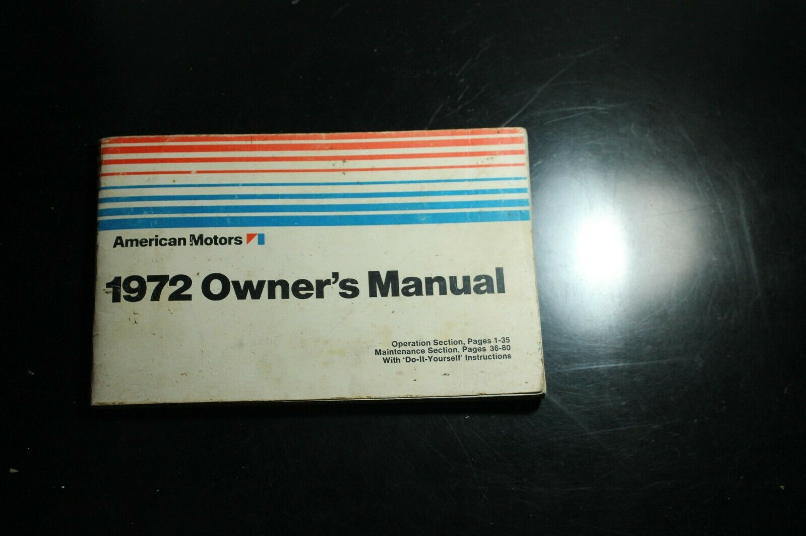 1972 AMERICAN MOTORS AMC OWNERS MANUAL HORNET GREMLIN JAVELIN AMBASSADOR