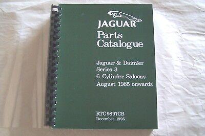 Series Parts Catalog Manual (jaguar xj6 parts manual catalog book  xj6  series III 3 XJ6 new reprint 1985 on)