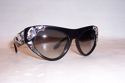 NEW PRADA SUNGLASSES SPR 21QS VOICE 1AB0A7 BLACK/GRAY 21Q LIMITED (Prada Sunglasses Limited Edition)