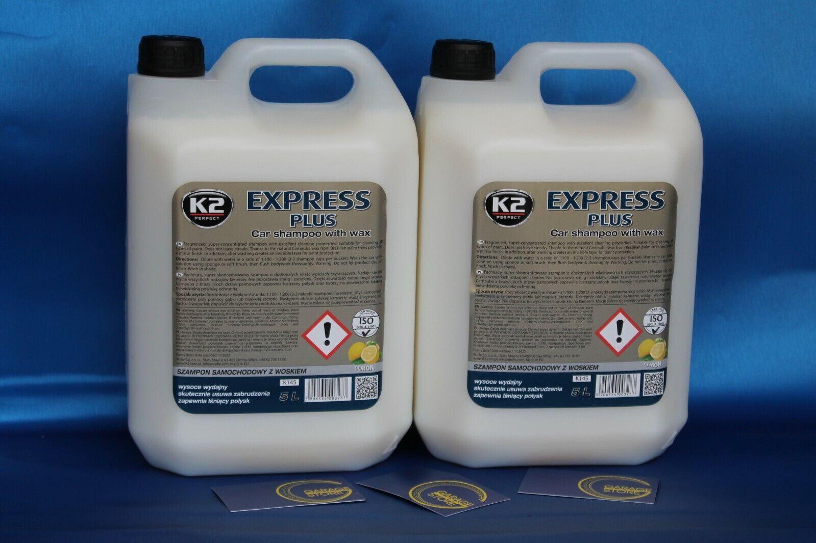 5L Express Plus Autoshampoo Lemonduft Autoreiniger Auto Shampoo mit Wachs