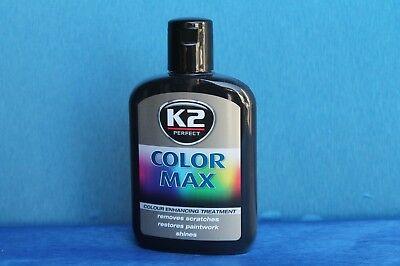 1St  K2 Color Max Farbpolitur Auto- Wachspolitur Carnauba-Wachs 200ml SCHWARZ