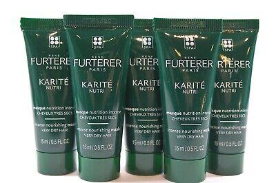 Intensive Nourishing Hair Mask - x5 Furterer Karite Intense Nourishing Hair Mask for Dry Hair .5 oz Mini Travel