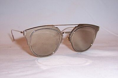 NEW DIOR HOMME DIOR COMPOSIT 1_0/S J5G-QV GOLD/IVORY MIRROR SUNGLASSES