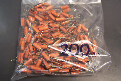 New 200 Pcs Sprague 470 Uf 16 V Aluminum Electrolytic Capacitor Axial Leads