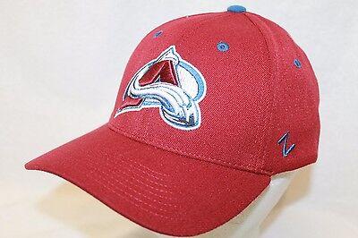 "Colorado Avalanche Hat Cap ""The Break Away Flexfit Cap MRN"" By Zephyr NHL Hats"