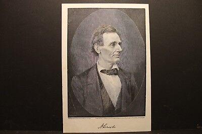 Abraham Lincoln Portrait, Engraving 1886