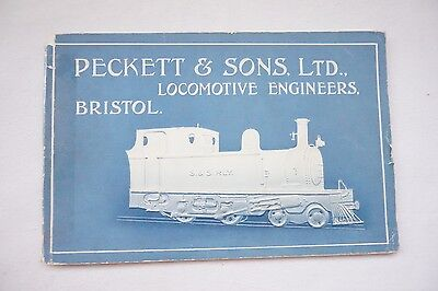 1930s Peckett & Sons Locomotive  Loco Publicity  Catalogue Technical Drawings