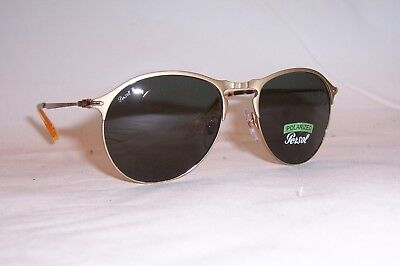 c4b6aa2ac7 NEW Persol Sunglasses PO 7649 S GOLD GREEN POLARIZED 106958 53mm AUTHENTIC