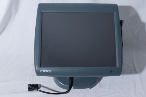 MICROS WS5A 400814-101 Touch Screen POS Terminal Register With Stand