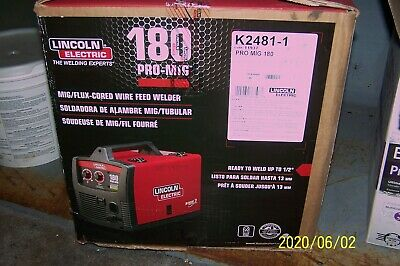 New Lincoln Electric Pro-mig 180 Welder 230-volt Flux-cored Wire Feed - K2481-1