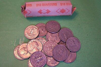1987 D WASHINGTON QUARTER ROLL - 40 COINS