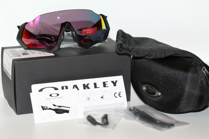 2f2345b94f Oakley Flight Jacket Sunglasses OO9401-0137 Polished Black W  PRIZM Road  Lens